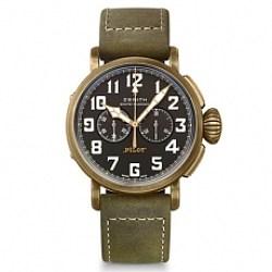 真力時飛行員系列29.2430.4069/21.C800青銅計時碼表-XF廠完美版